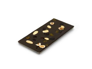 Tablette mendiants – chocolat noir