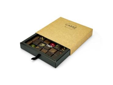 Coffret Carré Passion 25 chocolats