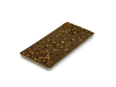 Tablette chocolat au lait  38% minimum de cacao et éclats de fèves de cacao