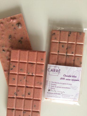 Tablette chocolat blanc aux fruits rouges