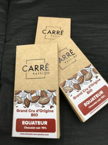 Tablette GRAND CRU BIO – EQUATEUR – 70% cacao